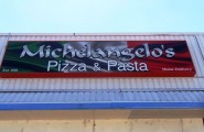 Michelangelo's Pizza and Pasta Illuminated Sign