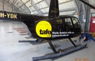 Tafe Helicopter Sign