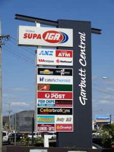 Garbutt Central illuminated sign. Pylon Signs Townsville