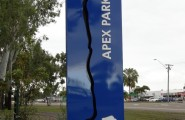 Aluminum Apex Park Signs