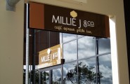 Millie J Sign at Stockland Northshore