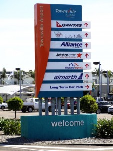 Townsville Airport monument signs vs pylon signs